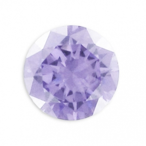 Cubic Zirconia Round cabochons 2mm Lavender x10