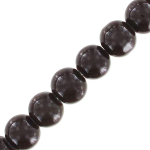 Beads imitation gemstone 6 mm Brown x130