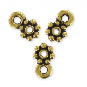 Spacer to fasten charms 8mm Old Gold tone x4