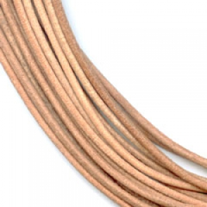 Leather cord 1,5mm Natural x 2m