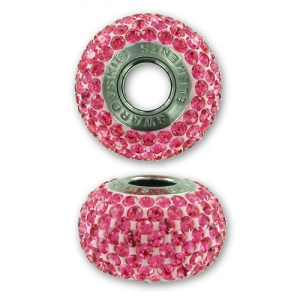 Swarovski 80101 BeCharmed Pavé 14 mm Rose x1