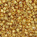 Miyuki Delicas 11/0 Hex Cut DBC0031 - 24kt Gold Plated x5g