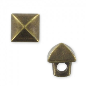 button square CCB 6,5 mm bronze x1