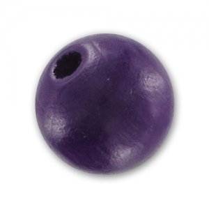 Wooden round beads 10mm Purple x10