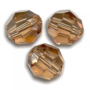 25c110ecdb0f9 Swarovski 5000 round 8mm Light Smoked Topaz x1