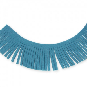 Ultra Suede Ribbon fringes  28mm Blue  x1,6m