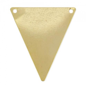 Triangle spacers 2 holes 34mm Gold tone x10