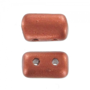 Rulla beads 3x5 mm Red Copper Satin x10g