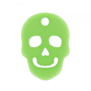 Opaque Polaris skull  14 mm Peridot x1