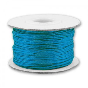 Braided nylon thread 0.8mm Dark Turquoise x50m