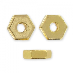 Hex nuts Spacers 10 mm gold tonex20