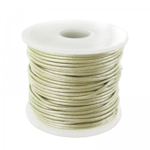 Leather cord 0,8mm Gold/Silver Shade metalized x 25m