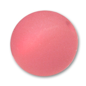 Round Polaris bead 10mm Padparadscha x1