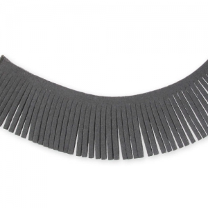Ultra Suede Ribbon fringes  28mm Grey x1,6m