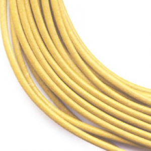 Leather cord 2mm Yellow x 2m