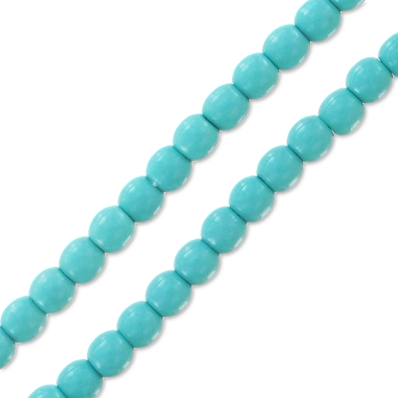 Round Beads Shiny 2mm Turquoise Bleu X150 Perles Co