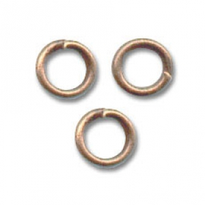 Jumprings open 5x0.8mm Old Copper tone x50