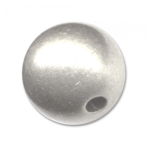 CCB round beads 10mm Silver tone x 10