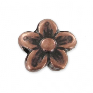 Flower 10x9mm Old Copper tone x1