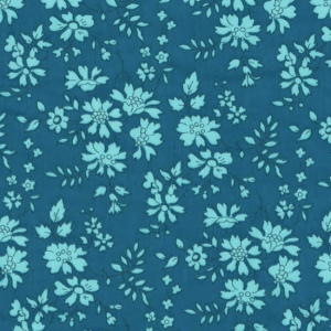 Fabric Liberty - Capel Green Turquoise x10cm