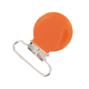 Soother holder removable clip 36mm Orange x1