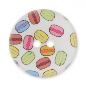 Decorated Button 28mm macaroons Multicolor x1