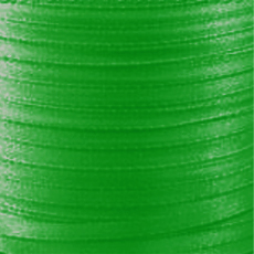 Satin ribbon 4 mm Green x 5m