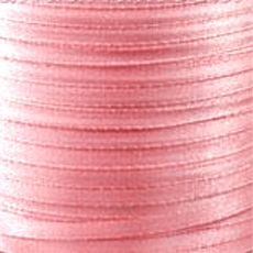 Satin ribbon 4 mm Light Rose x 5m