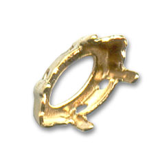 Swarovski Navette cabochon setting 10x5mm Gold-colored