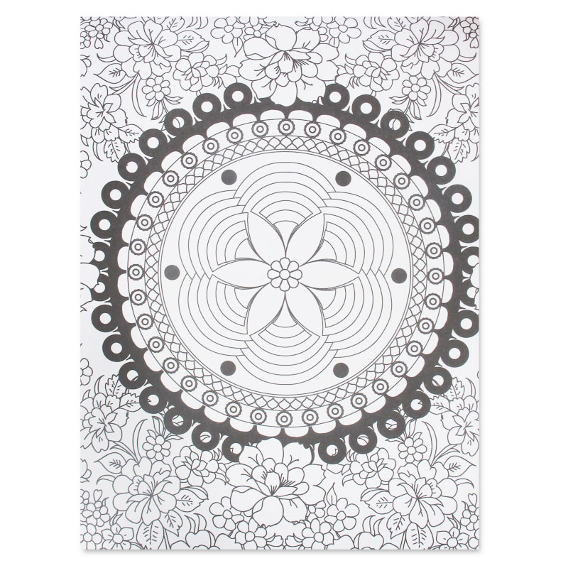 Coloriage 100 Anti Stress Motifs Abstraits Dinspiration Florale N
