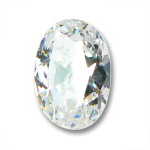 Cubic Zirconia oval cabochon  7x5mm Crystal