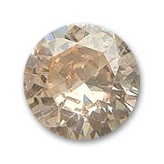 Cubic Zirconia Round cabochons 2mm Champagne x10