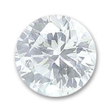 Cubic Zirconia Round cabochons 3mm Crystal x10