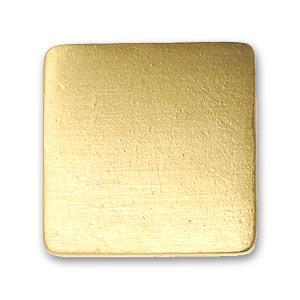 Screw-on square 18mm Gold tone x1