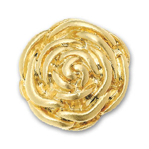 Screw-on rose 20mm Gold tone x1