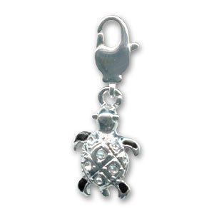 Turtle with strass 19mm Crystal x1