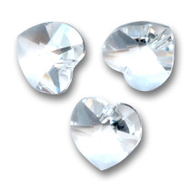 Swarovski 6228 Hearts Crystal  Unfoiled 10,3x10mm x6