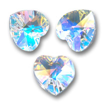 Swarovski 6228 Hearts Crystal AB 10,3x10mm x6