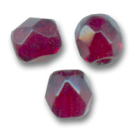 Fire Polished faceted round beads 3mm Garnet  x50