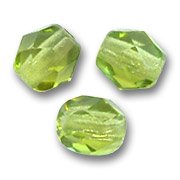 Fire Polished faceted round beads 3mm Olivine  x50