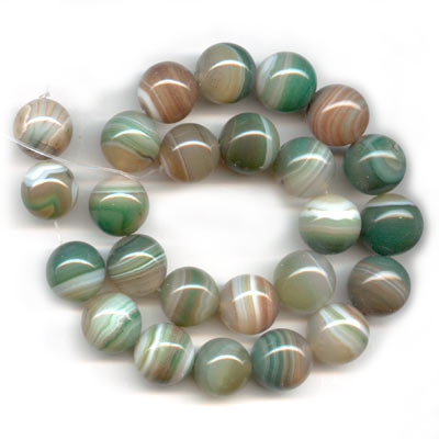 Green Lace Agate 16mm x1 - Perles & Co