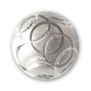 925 Sterling Silver Round Laser Cut 10mm x1