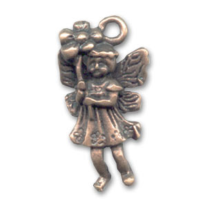 Fairy charm 20mm Old copper tone x1
