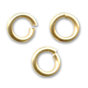 14K Gold filled jumprings open 4x0.7mm  x10