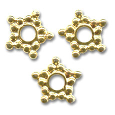 Metal spacer bead 10mm Gold tone x10