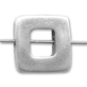Hollow square 12mm Old silver tone x1