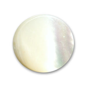 Mother-of-Pearl Round Pucks 10mm Natural x10