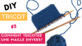 DIY Knitting: How to knit a stitch (jersey stitch)?