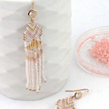 Make Her Pastel Weaving Brick Stitch Earrings with Miyuki Beads
