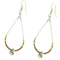 Earrings with Miyuki Delicas and faceted drops